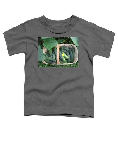 Cucumbers In Garden Basket Toddler T-Shirt