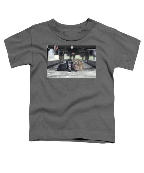 Dogs Lying Under A Train Wagon Toddler T-Shirt