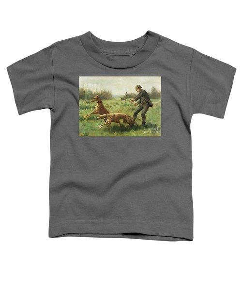 Exercising Greyhounds Toddler T-Shirt