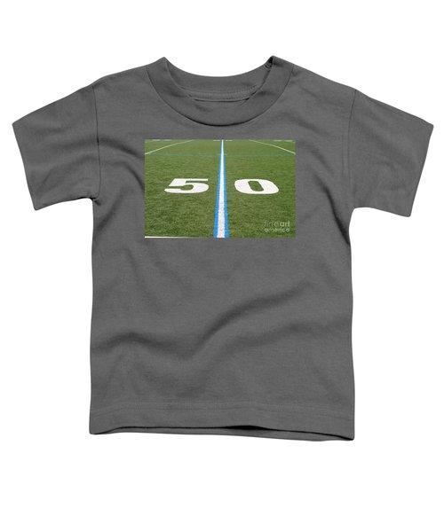 Football Field Fifty Toddler T-Shirt