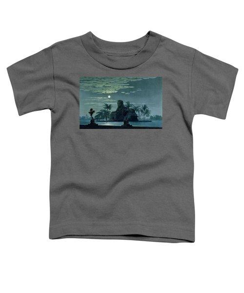 Garden Scene With The Sphinx In Moonlight Toddler T-Shirt