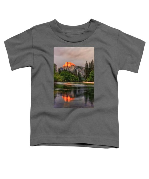 Golden Light On Halfdome Toddler T-Shirt