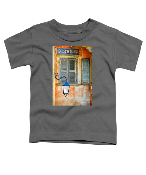 Italian Street Lamp With Window And Decorated Wall Toddler T-Shirt