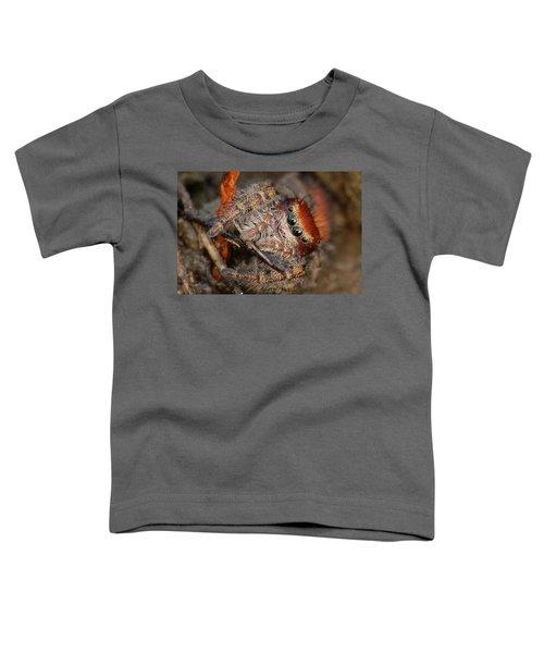 Jumping Spider Portrait Toddler T-Shirt