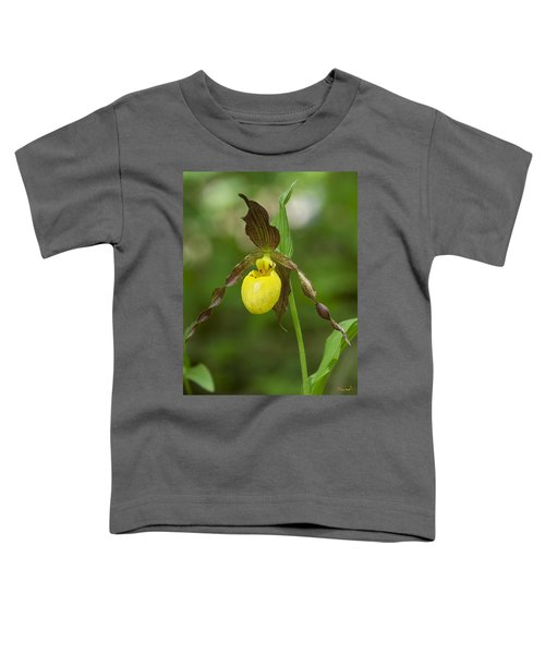 Large Yellow Lady Slipper Orchid Dspf0251 Toddler T-Shirt