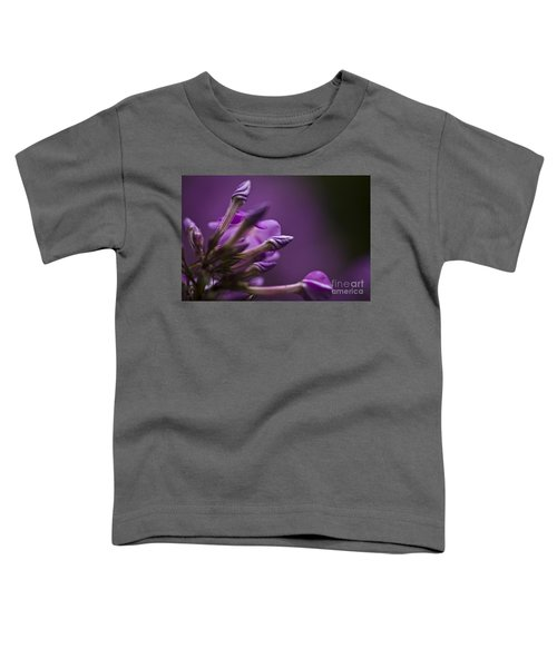 Lilac Spirals. Toddler T-Shirt by Clare Bambers