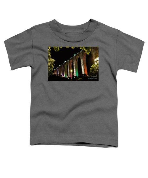 Lisbon Historic Aqueduct By Night Toddler T-Shirt