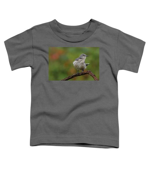 Mocking Bird Perched In The Wind Toddler T-Shirt