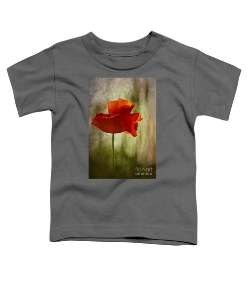 Moody Poppy. Toddler T-Shirt by Clare Bambers - Bambers Images