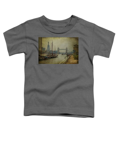 Moored Thames Barges. Toddler T-Shirt by Clare Bambers