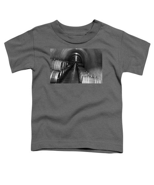 Napa Wine Barrels In Cellar Toddler T-Shirt