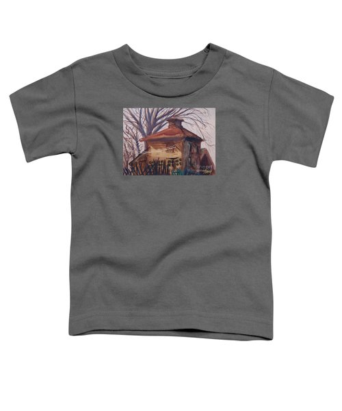 Old Garage Toddler T-Shirt by Rod Ismay