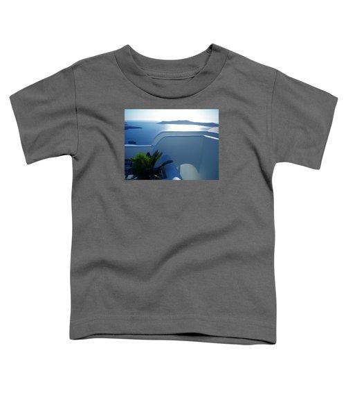 Peaceful Sunset Santorini Toddler T-Shirt