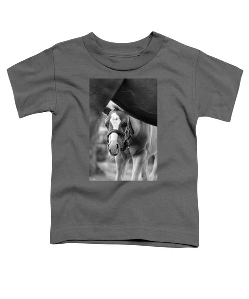 Peek'a Boo - Black And White Toddler T-Shirt