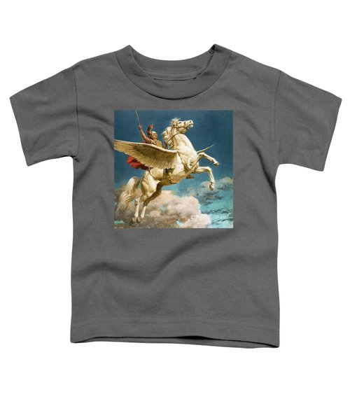 Pegasus The Winged Horse Toddler T-Shirt by Fortunino Matania