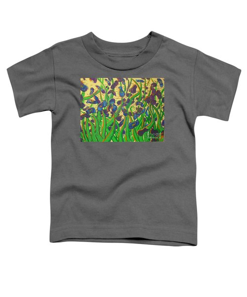 Purple Flowers Toddler T-Shirt