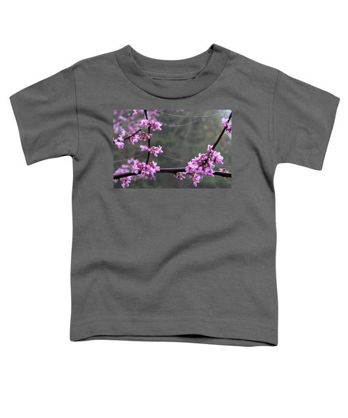Redbud With Webs And Dew Toddler T-Shirt