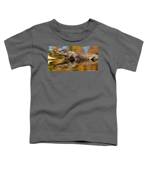 Relection Of An Alligator Toddler T-Shirt