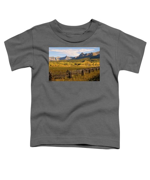 Rocky Mountain Ranch Toddler T-Shirt