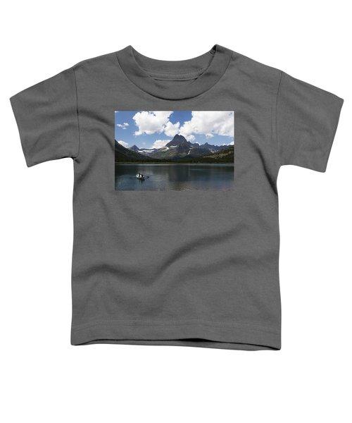Rowboat At Many Glacier Toddler T-Shirt