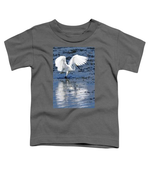 Snowy Egret Fishing Toddler T-Shirt