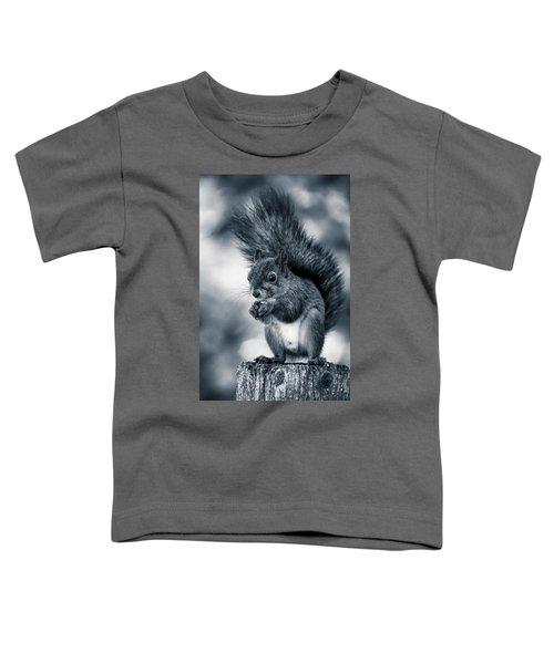 Squirrel In Monochrome Toddler T-Shirt