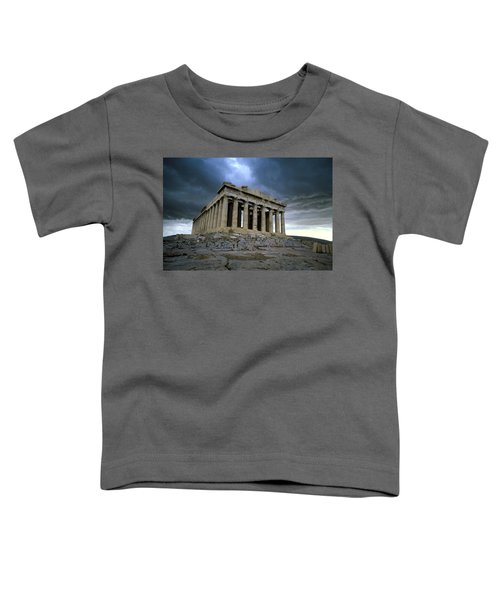 Storm Over The Parthenon Toddler T-Shirt