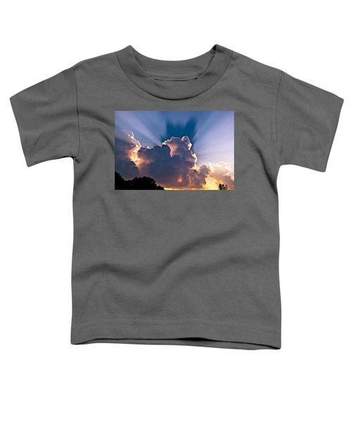 Sun Rays And Clouds Toddler T-Shirt