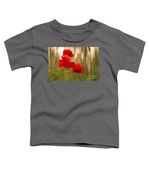 Sunset Poppies. Toddler T-Shirt by Clare Bambers