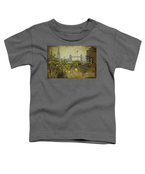 Tower Bridge In Springtime. Toddler T-Shirt by Clare Bambers