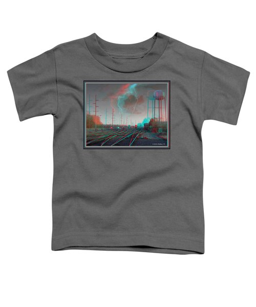 Tracking The Storm - Red-cyan Filtered 3d Glasses Required Toddler T-Shirt