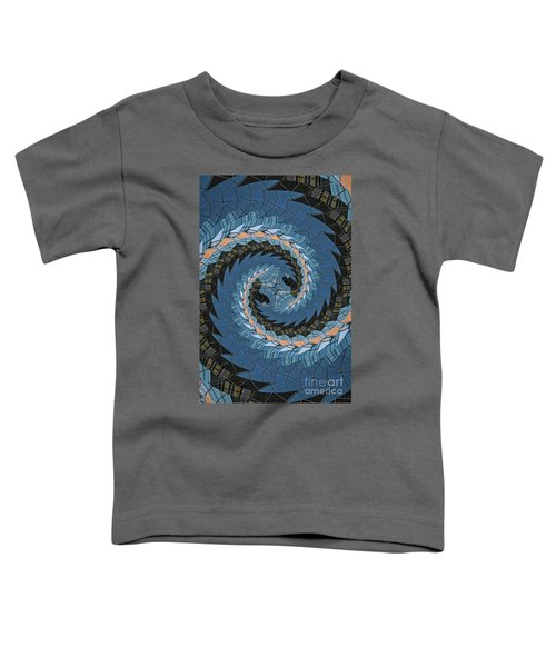 Wave Mosaic. Toddler T-Shirt by Clare Bambers