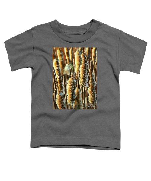 Wren And Cattails 2 Toddler T-Shirt