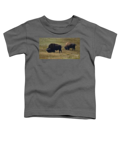 Wyoming Buffalo Toddler T-Shirt