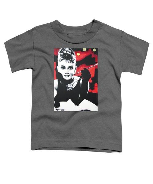 - Breakfast At Tiffannys -  Toddler T-Shirt by Luis Ludzska