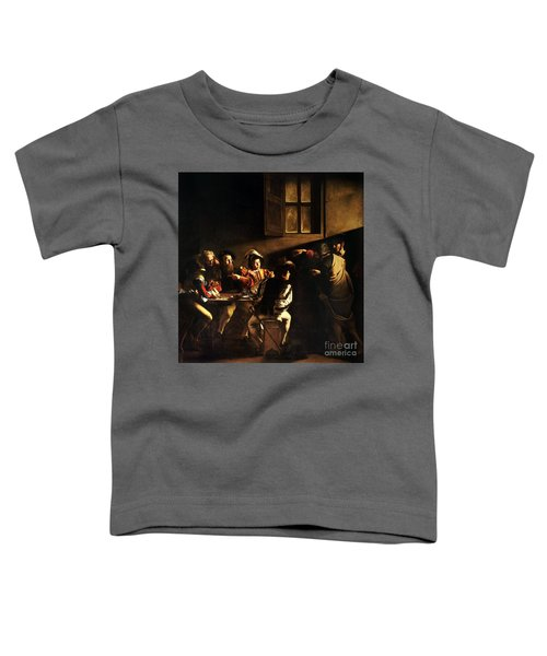 Toddler T-Shirt featuring the painting  The Calling Of Saint Matthew by Caravaggio