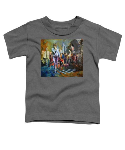 066 Ny Manhattan Street View New York Toddler T-Shirt