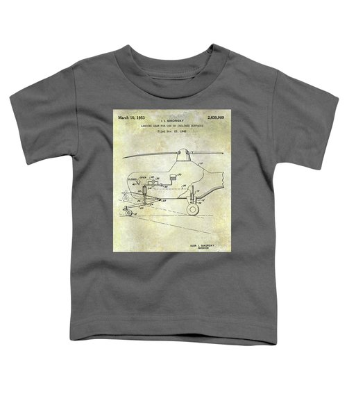 1953 Helicopter Patent Toddler T-Shirt by Jon Neidert