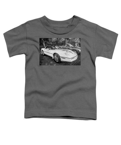 1984 Chevrolet Corvette Painted Bw  Toddler T-Shirt