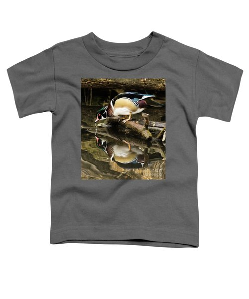 A Sip For You And Me Wildlife Art By Kaylyn Franks Toddler T-Shirt