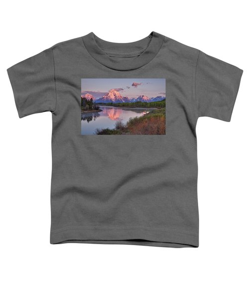 Alpenglow At Oxbow Bend Toddler T-Shirt