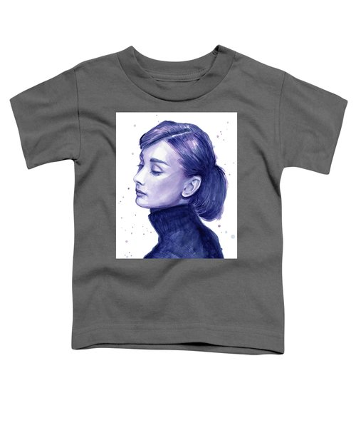 Audrey Hepburn Portrait Toddler T-Shirt