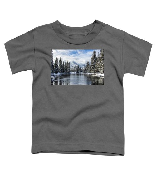 Big Springs In Winter Idaho Journey Landscape Photography By Kaylyn Franks Toddler T-Shirt