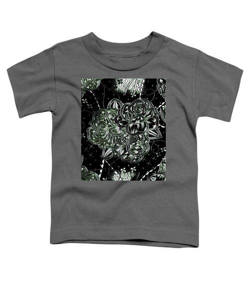 Black Flower Toddler T-Shirt