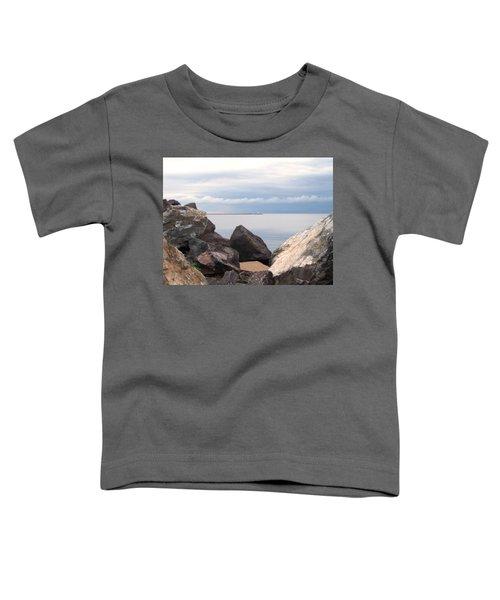 Break Wall On Lake Superior Toddler T-Shirt