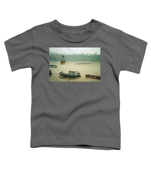 Cable Car Over Yangzi River In Chongqing China Toddler T-Shirt