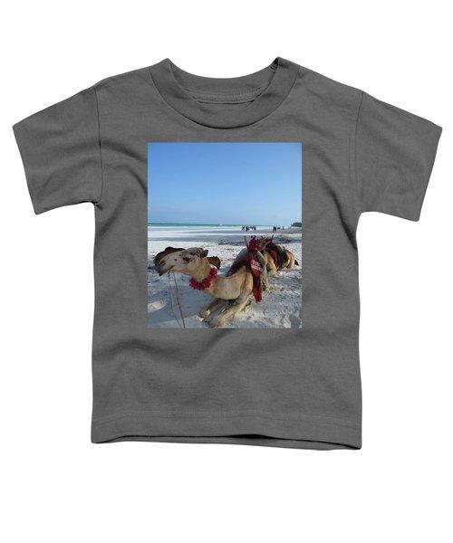 Camel On Beach Kenya Wedding Toddler T-Shirt