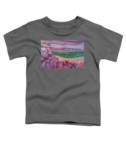 Canyon Of Colorado River - Sunrise Aerial View Toddler T-Shirt