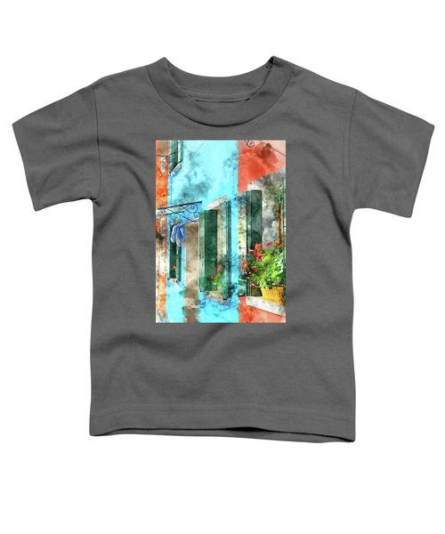 Colorful Houses In Burano Island Venice Italy Toddler T-Shirt