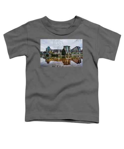 Downtown Of Greenville South Carolina Around Falls Park Toddler T-Shirt